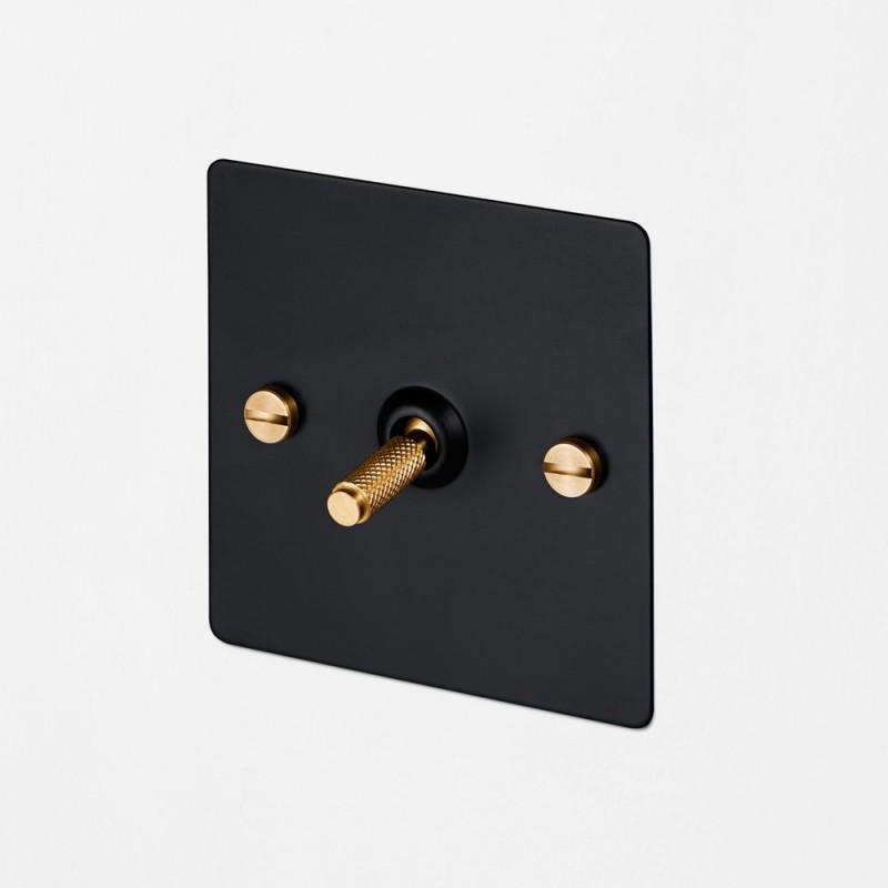 Выключатель промежуточный одноклавишный Black/Brass, Buster&Punch (Англия)