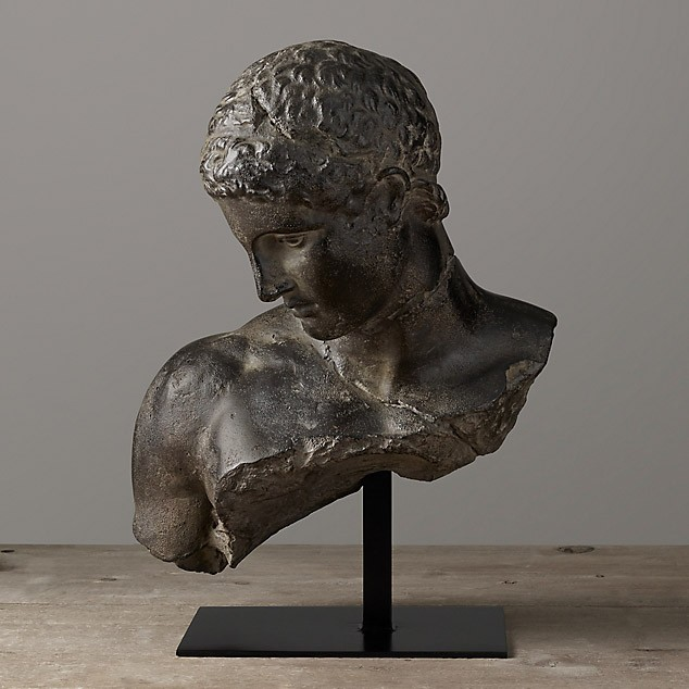 Скульптура Greek bust, Restoration Hardware (Америка)