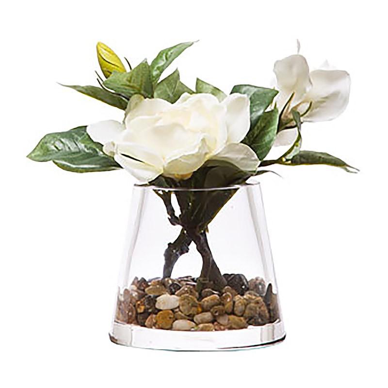 Белая гардения в вазе, Lux-Art Silks (Америка)