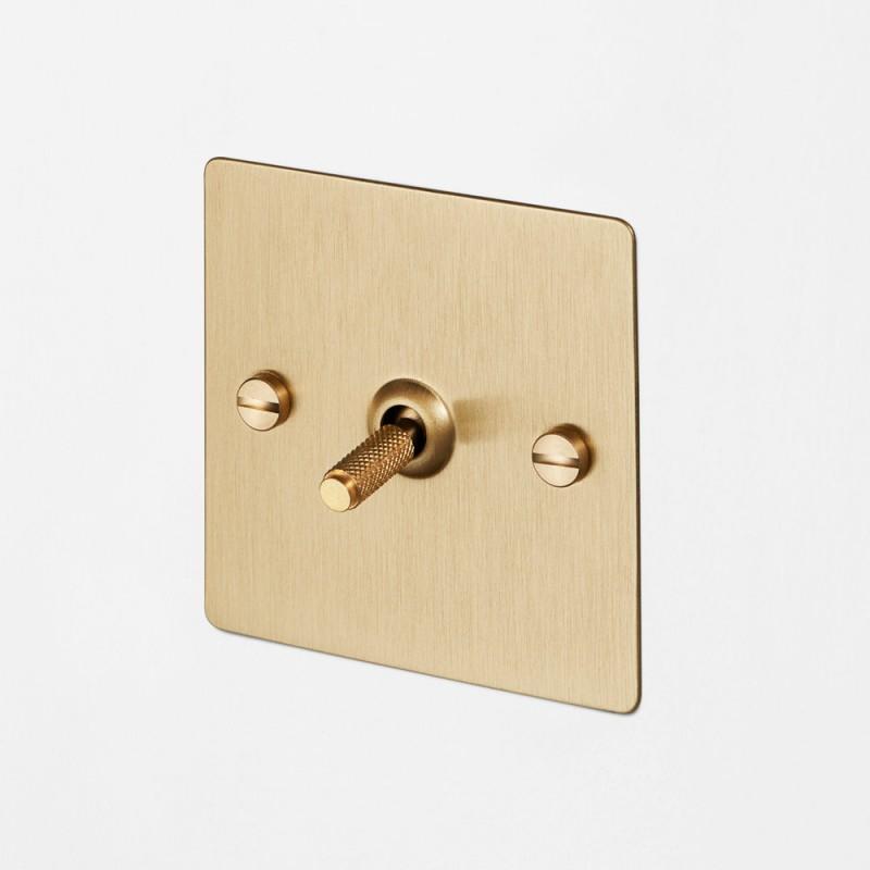 Выключатель одноклавишный Brass, Buster&Punch (Англия)
