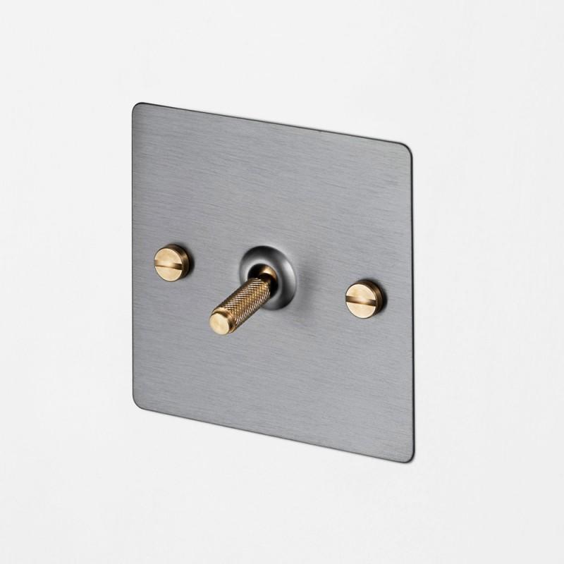 Выключатель одноклавишный Steel/Brass, Buster&Punch (Англия)