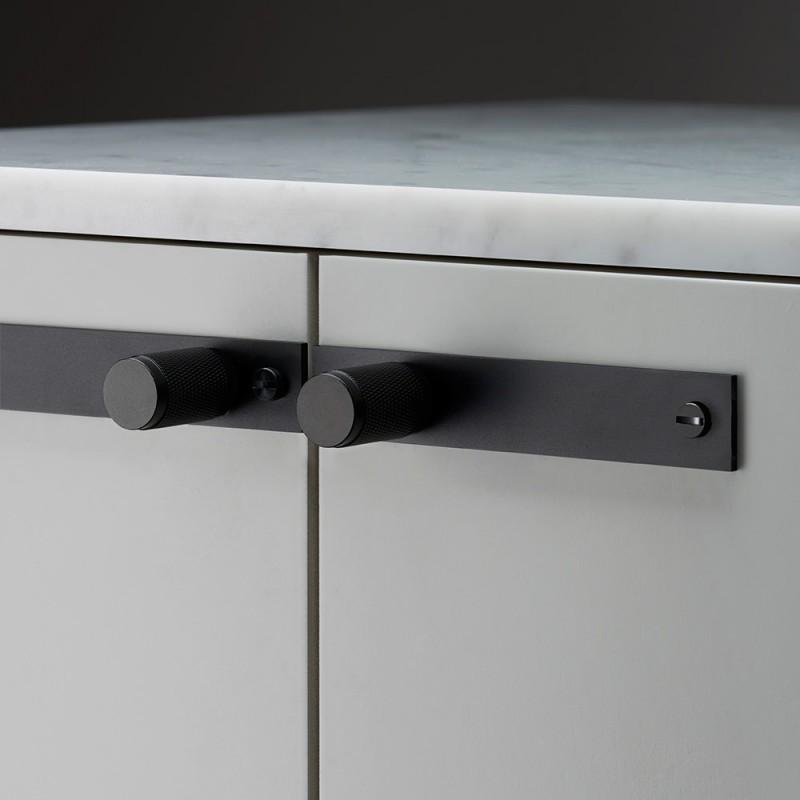 Ручка Furniture Knob/Plate Black (пара), Buster&Punch (Англия)