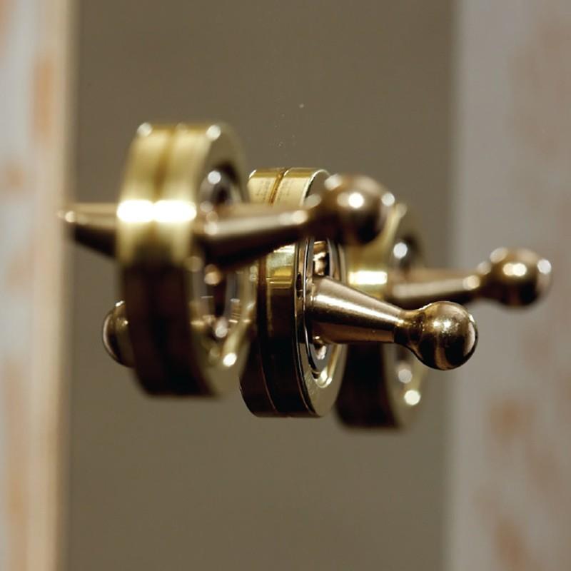 Выключатель трехклавишный Dolly Unlacquered brass, Forbes and Lomax (Англия)