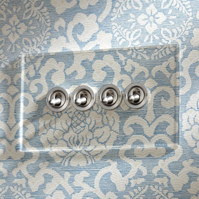 Выключатель четырехклавишный Dolly Invisible/Stainless steel, Forbes and Lomax (Англия)