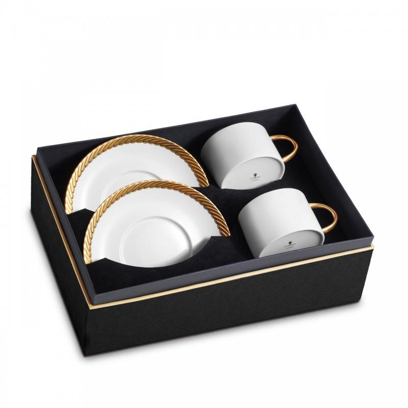 Чашка с блюдцем Corde - комплект из двух штук, L`OBJET (Франция)