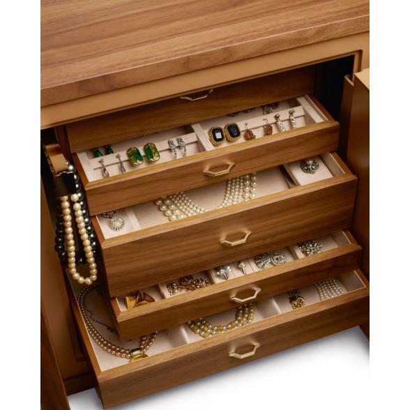 Шкаф с сейфом для хранения драгоценностей и часов из коллекции Design, Agresti (Италия)
